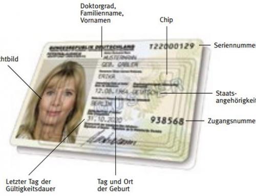 Personalausweis mit elektronischer ID und Signatur